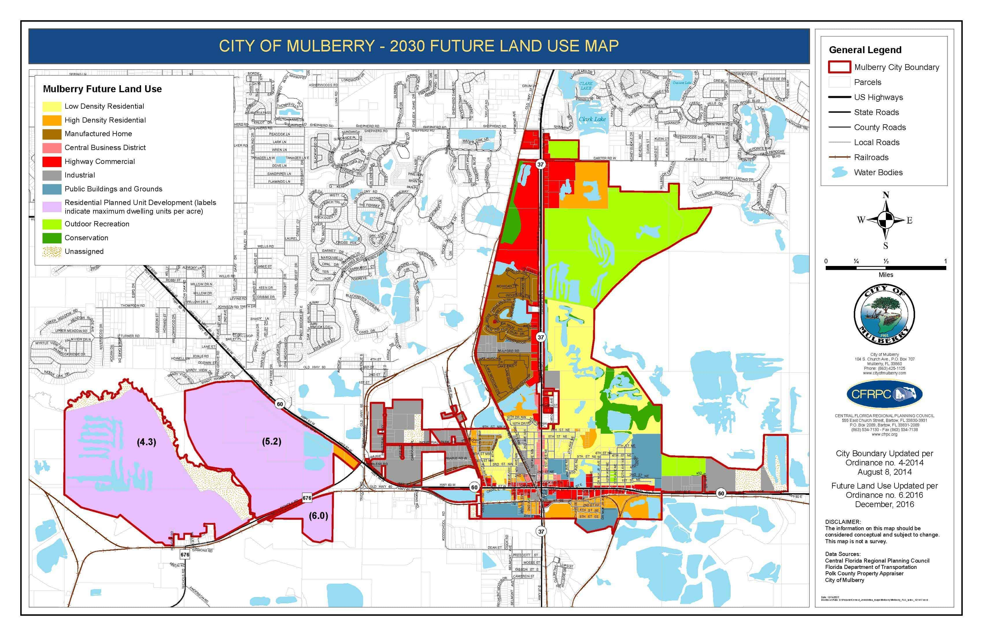 Mulberry Future Land Use Map