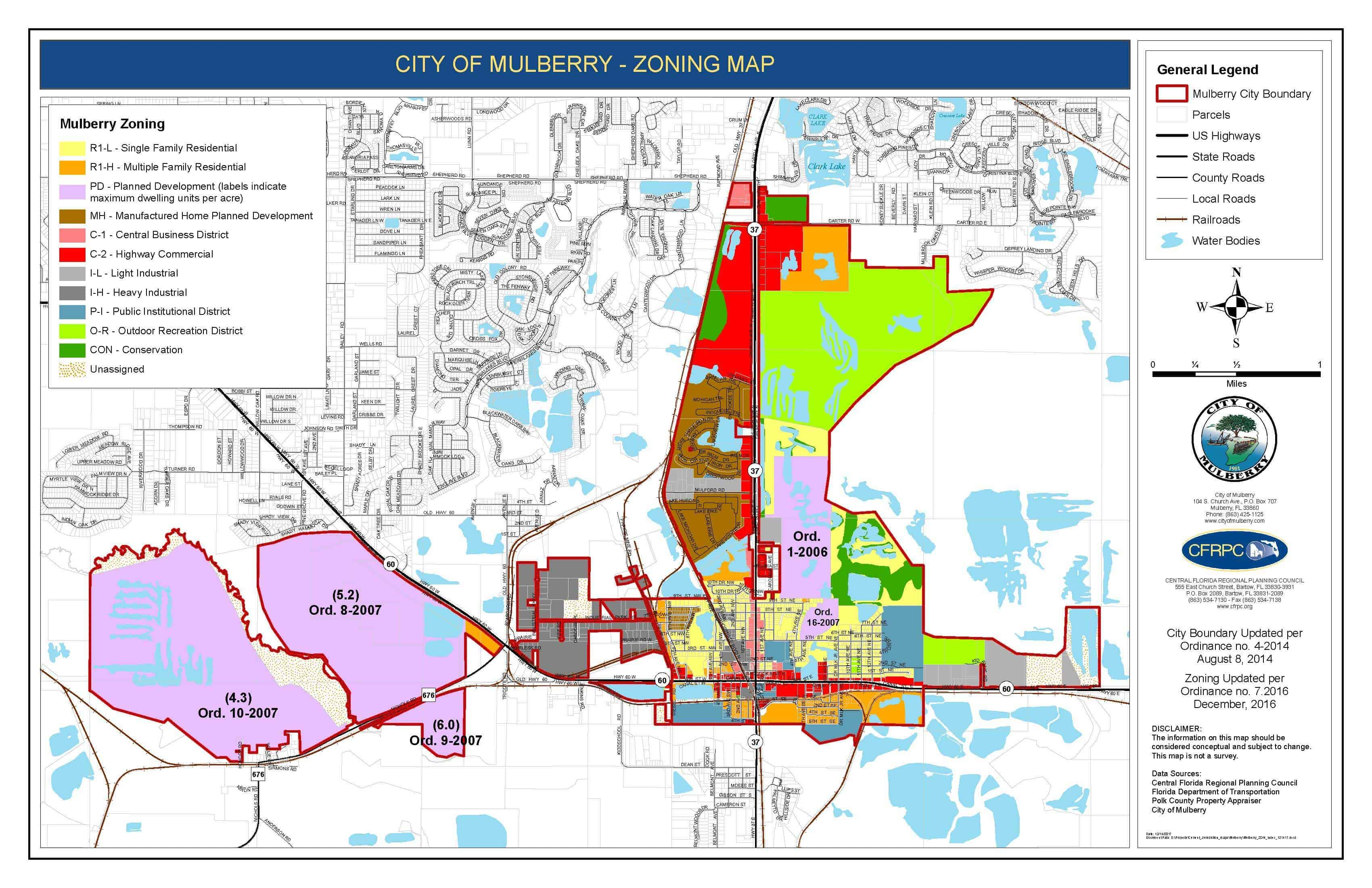 Mulberry Zoning Map