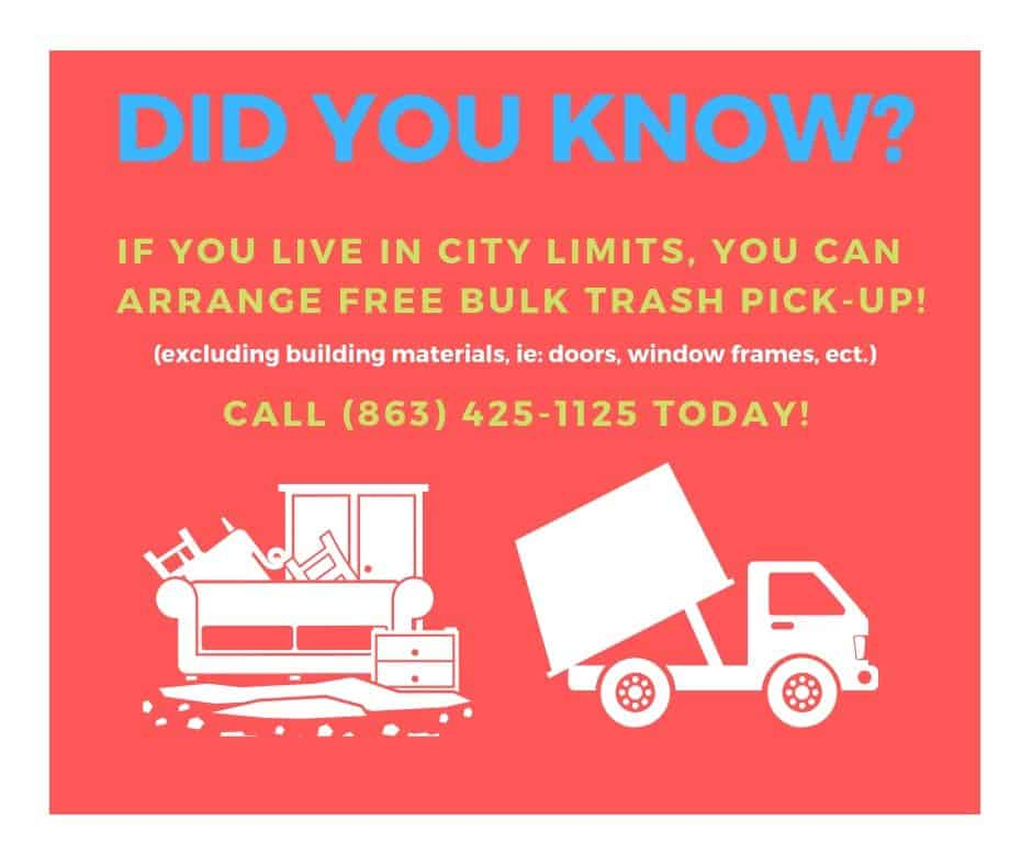 Did You Know - Trash Pick-Up
