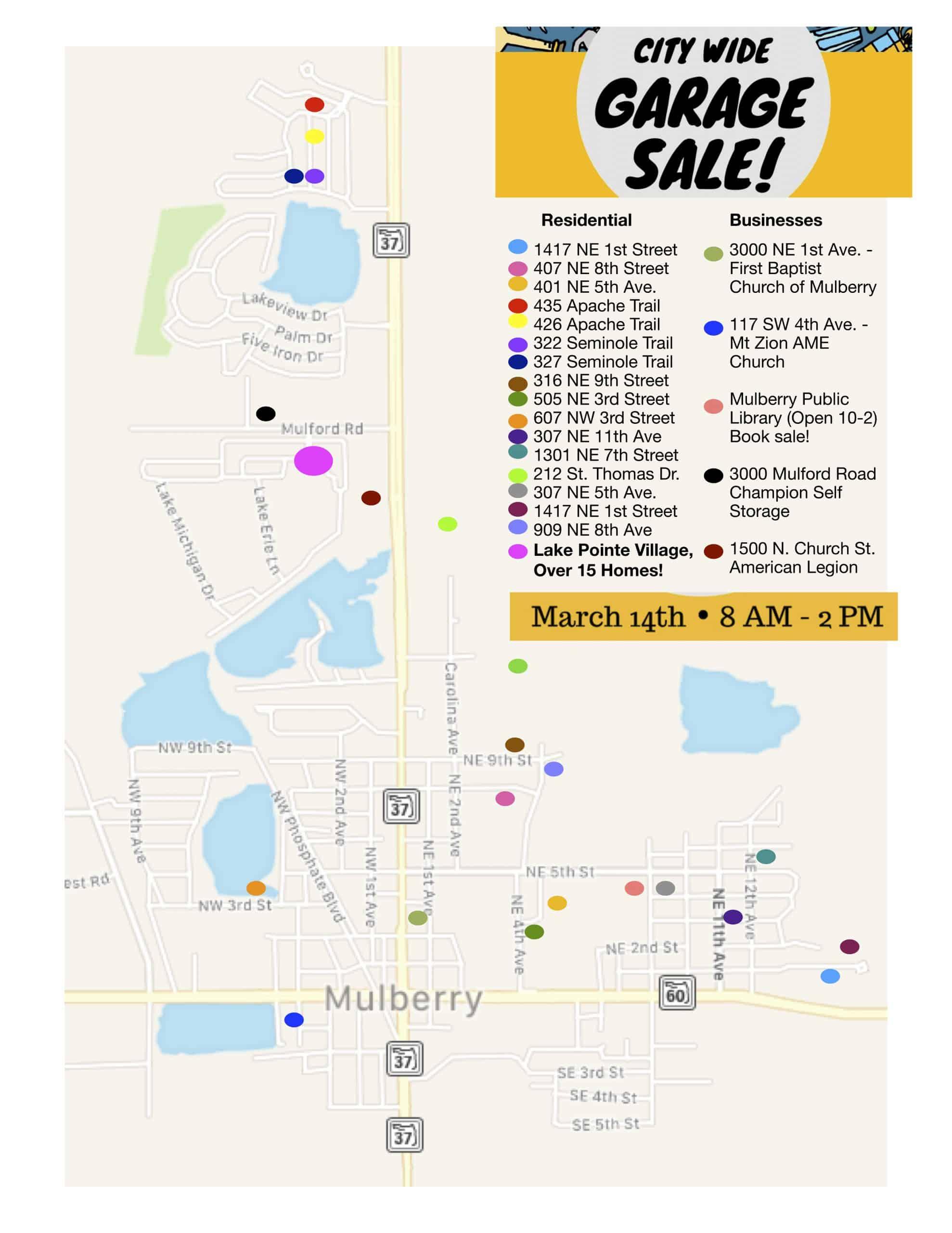 City Wide Garage Sale Map 2020